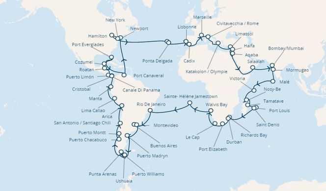 Tour du Monde 2021 au départ Marseille avec Costa Croisières