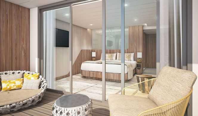 De 30m² à 199m² pour la Penthouse Suite elles  présentent un aménagement moderne et luxueux conçu pour admirer  les paysages des îles Galapagos.