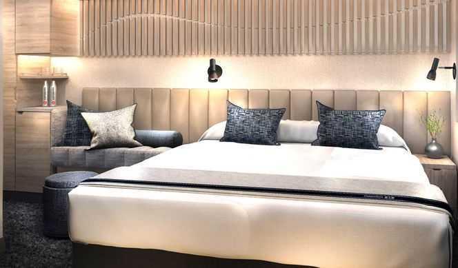 Cabinespouvant accueillir jusqu'à deux personnes,dotées d'un lit double ou d'un espace nuit aménageable et d'une télévision. Ellesdisposent d'une salle de bain avec douche/WC.Certaines cabines disposent de lits superposés.