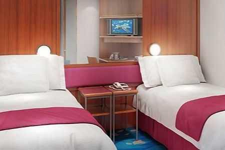 Superficie: 13m², 2 lits bas convertibles, salle de bain avec douche, téléphone, TV, climatisation, sèche-cheveux.