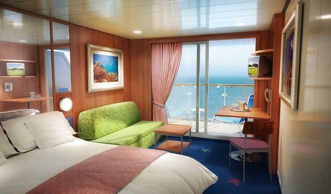 2 lits bas, coin salon avec lit sofa, salle de bain avec douche, balcon privé, télévision, climatisation, téléphone, réfrigérateur. ( 19 m² )
