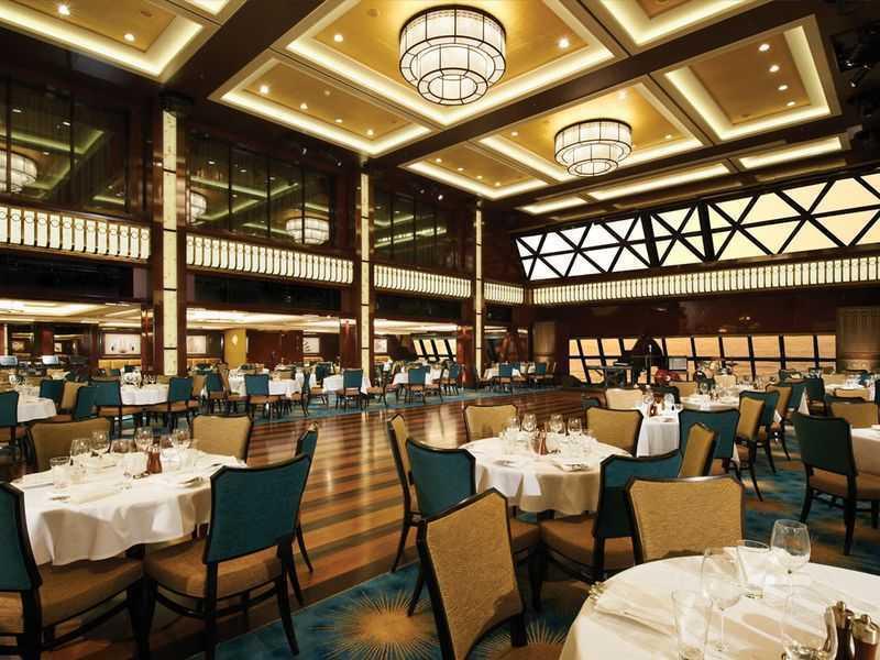 Restaurant principal, 10 Restaurants de spécialités (parfois avec suppléments), Œnothèque, 10 Bars, Glacier, Boulangerie/Patisserie, Brasserie, Bar à cigares...