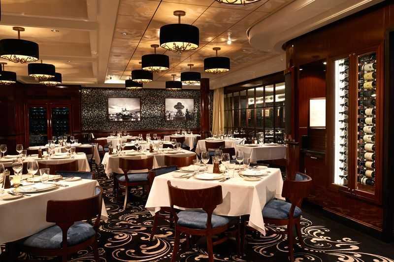 Plus de 28 options de restauration dont Restaurant principal, 14 Restaurants de spécialités (parfois avec suppléments), Œnothèque, 13 Bars, Glacier, Boulangerie/Pâtisserie, Bar à cigares, Ice bar...