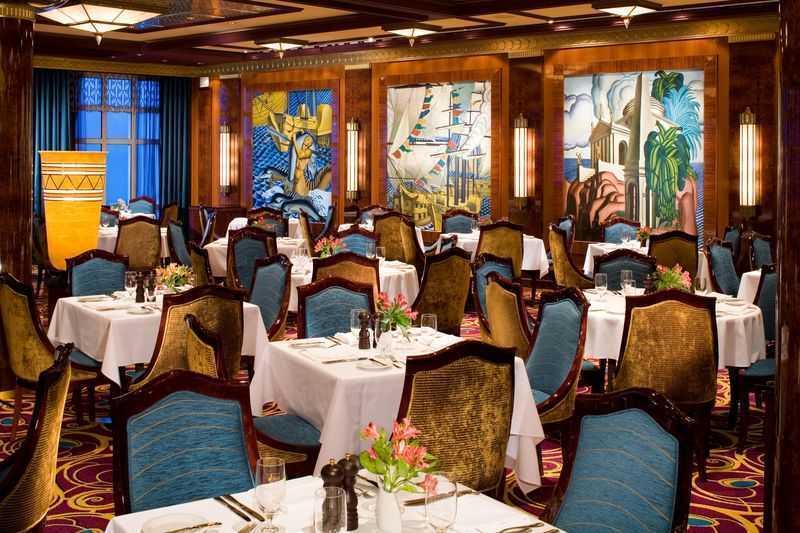 Restaurant principal, 12 Restaurants de spécialités (parfois avec suppléments), 11 Bars, Bar à cigares...