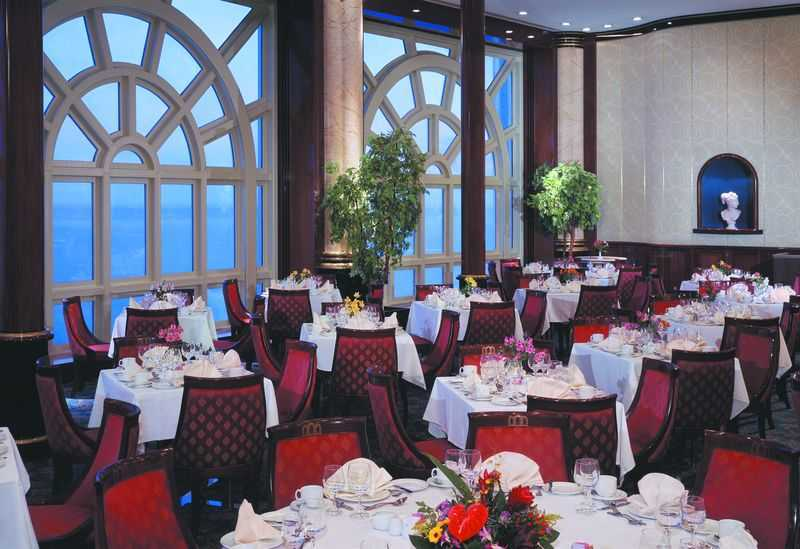 Restaurant principal, 9 Restaurants de spécialités (parfois avec suppléments), 8 Bars...