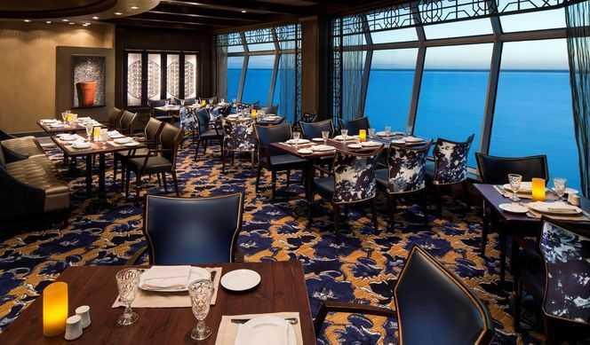 Restaurant principal, Buffet, 16 Restaurants de spécialités (parfois avec suppléments), Œnothèque, 5 Bars, Cafétéria, Glacier, Bar à cigares...