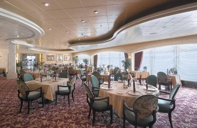 Restaurant principal, Buffet, 5 Restaurants de spécialités (parfois avec suppléments), 6 Bars...