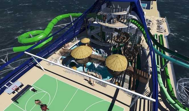 Aquapark interactif, Terrain de sport, Gym, Ecran géant...