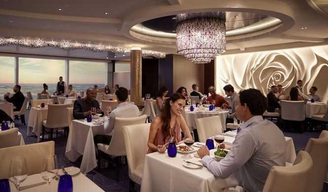 Restaurant principal, 11 Restaurants de spécialités (parfois avec suppléments), Œnothèque, 10 Bars, Glacier, Brasserie...