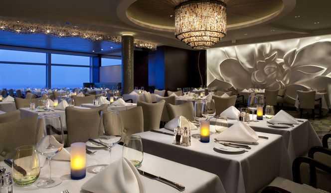 Restaurant principal, Buffet, 6 Restaurants de spécialités (parfois avec suppléments), Œnothèque, 10 Bars, Cafétéria, Glacier, Brasserie...