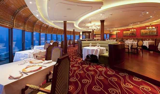 3 Restaurants principales, 3 Restaurants de spécialités (certains avec supplément), 10 Bars et salons...