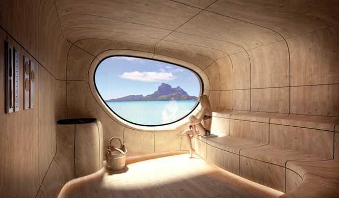 Solarium, Ponant Yacht Spa, Massage, Hammam, Salon de coiffure...