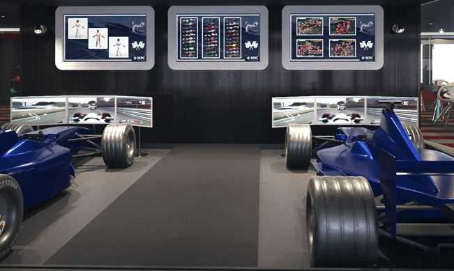 Le plus long dôme à LED en mer, Simulateurs de F1...