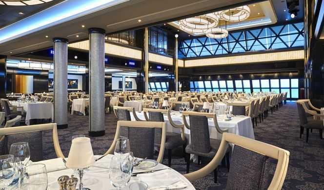 Restaurant principal et jusqu'à 27 options de restauration (parfois avec suppléments), Œnothèque, 10 Bars, Bar à cigares...